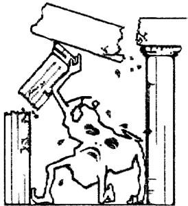 Representación gráfica de la visión de los tres golpes de la platabanda / Cortesía JAH