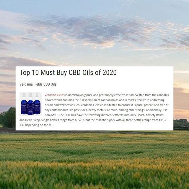 Verdania Named Top 10 CBD