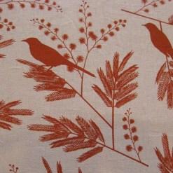 Acacia Hemp and Organic Cotton in Persimmon