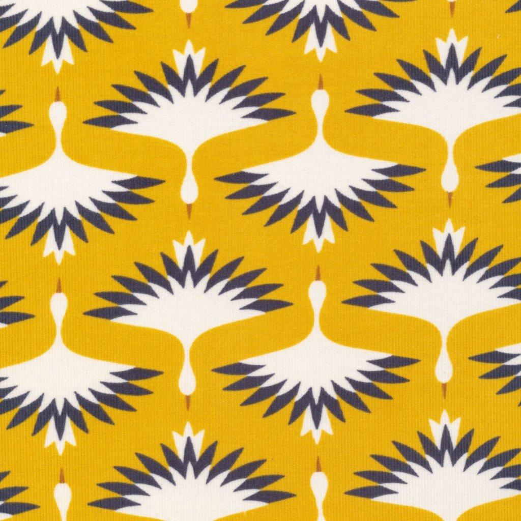 Swooping Cranes - Organic Cotton