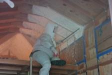 Sleeping loft spray foam