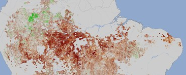 Sequía en el Amazonas en el año 2010. Imagen: NASA