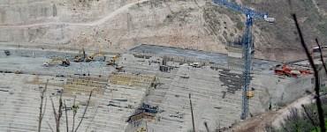 Cortina de la Presa El Zapotillo. Imagen cortesía del IMDEC