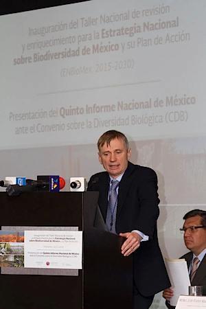 David Cooper de la Secretaría de la Convenio de Diversidad Biológica. Foto: Conabio