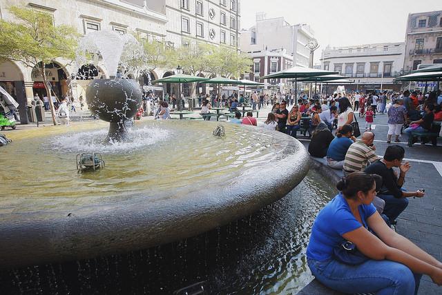 Fuente de Plaza Universidad rehabilitada por el Ayuntamiento de Guadalajara. Foto: Ayuntamiento de Guadalajara