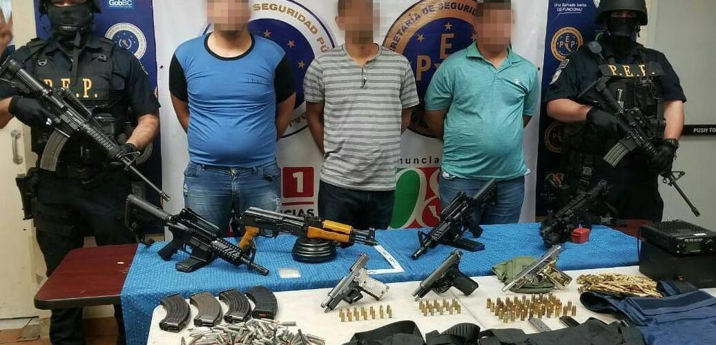 Captura de Óscar Parra, traficante de totoaba. Foto de la Policía Estatal Preventiva de Baja California