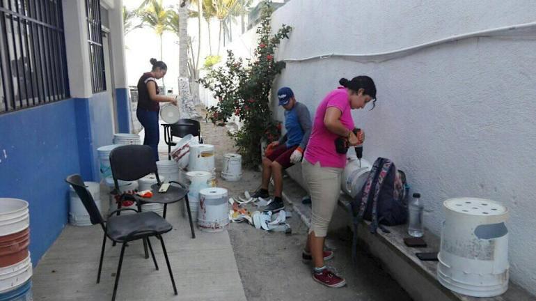 Trabajos previos a la entrada en operación del campamento La Gloria en el Playón de Mismaloya