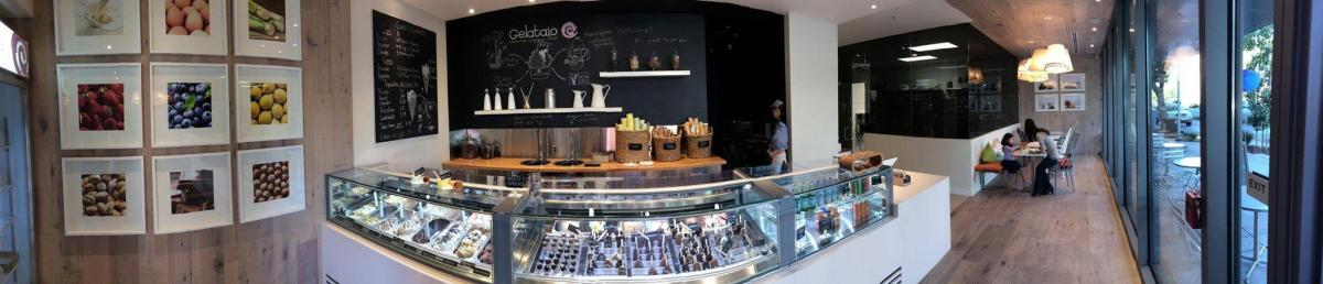 Gelataio's comfy interior is welcoming to all customers.