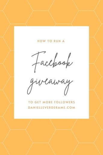 how to run a facebook giveaway graphic