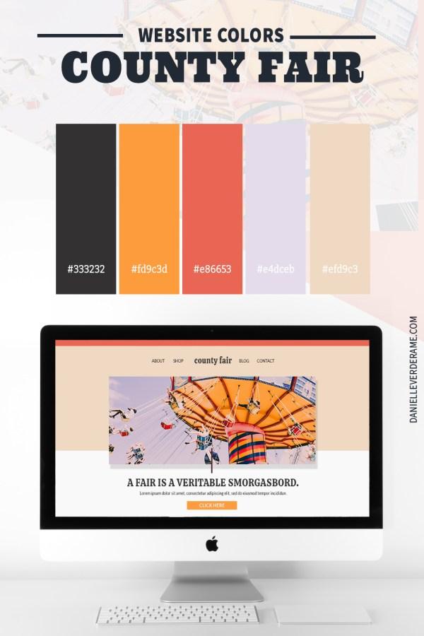 County fair Website Color Ideas