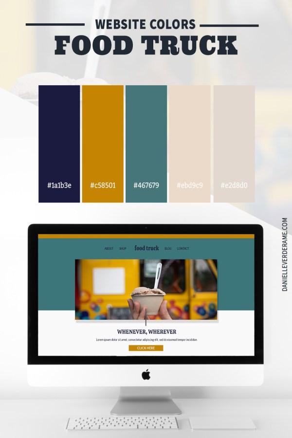 Food Truck Website Color Combinations