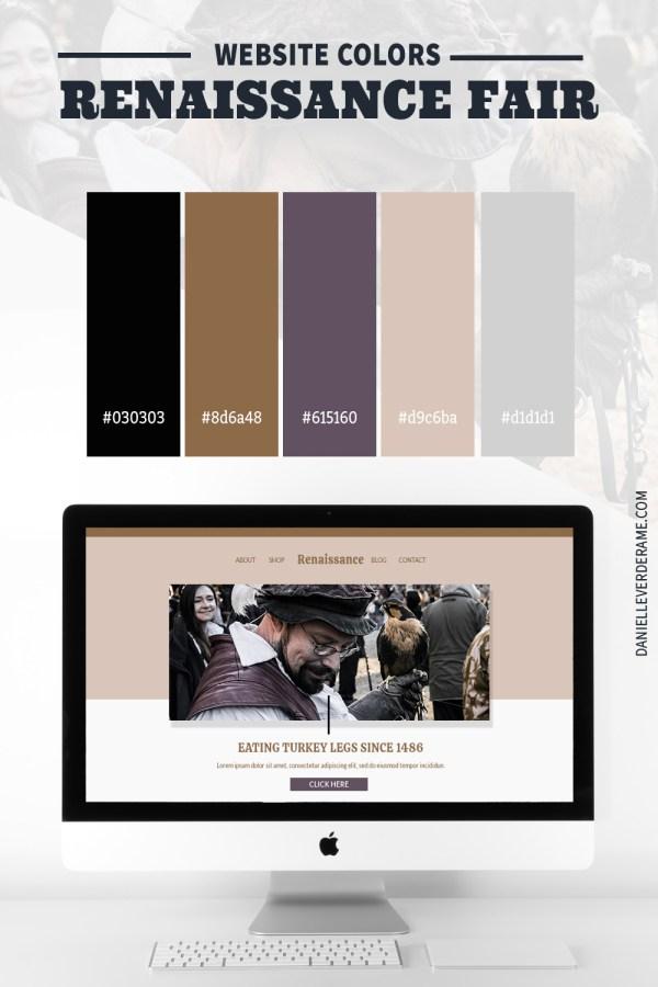 Renaissance fair Color Combinations