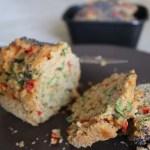 Vegan Plumcake salato con Rucola e Peperone