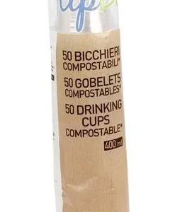 Bicchieri Compostabili - 50 Pezzi - 400 ml