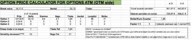Optie prijs calculator