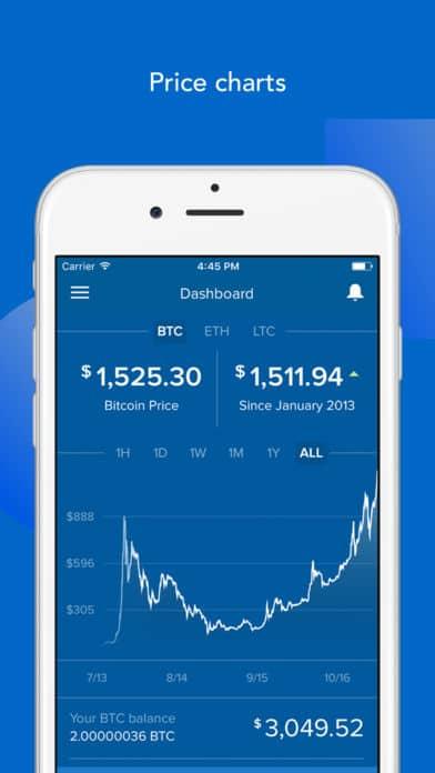 handel online in cryptocoins met de coinbase app