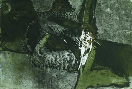 Törött hiány, aquatinta, 50x34 cm, 1990
