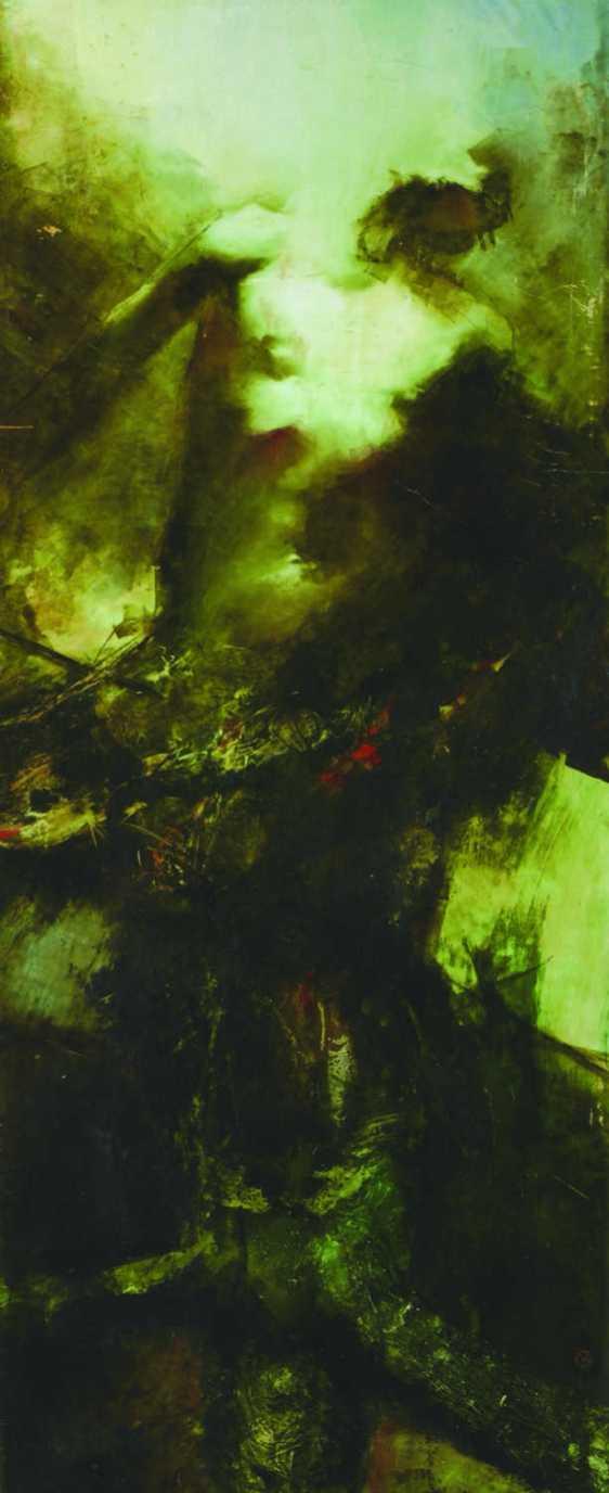 Mindenkor mindeütt, vegyes technika, 220x100 cm, 1996