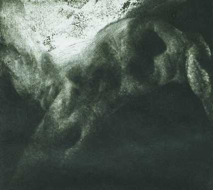 Barlanglakó, aquatinta, 15x17 cm, 1989