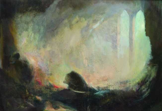 Régi új fény, olaj, vászon, 70x100 cm, 2001