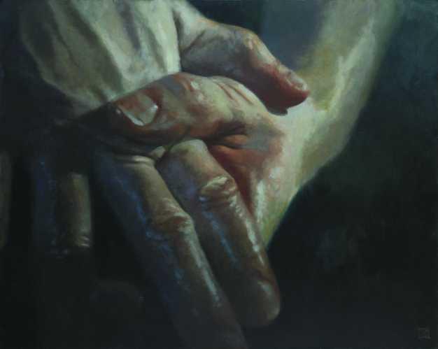 Az ítélő, olaj, vászon, 110x140 cm, 2006