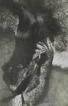 Sebesült támadó,aquatinta, 31x48 cm, 1991