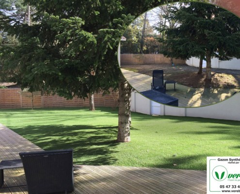 jardin en pelouse artificielle à Marmande (Verebo)