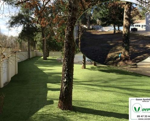 Jardin Verébo en gazon synthetique à Andernos