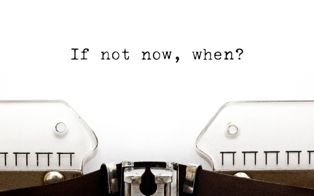 [Goal Setting] If Not Now, When?