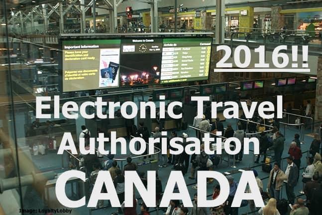 ETA – Aanvraag Canada verplicht per 15 maart 2016
