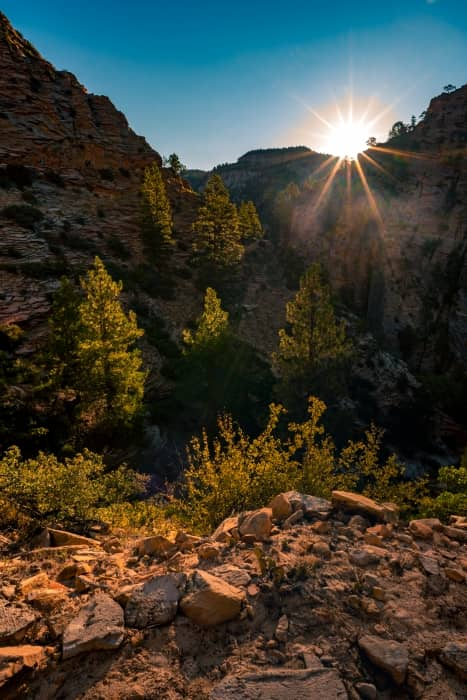 Sunrise at Observation point trail