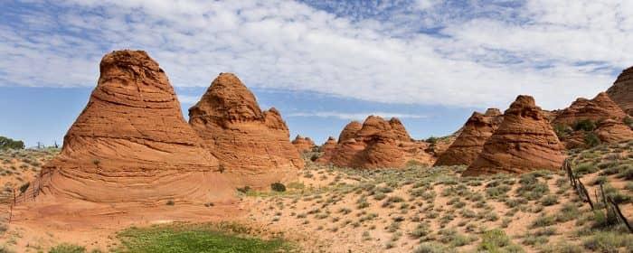 een prachtig kleurrijk gebied gelegen in het Vermillion Cliffs National Monument.