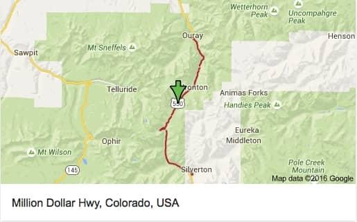 The Million Dollar Highway - Map