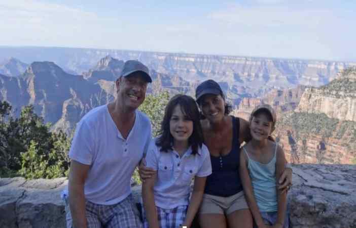 Vincent, Dion, Francis & Donna Utah bij de North Rim Grand Canyon