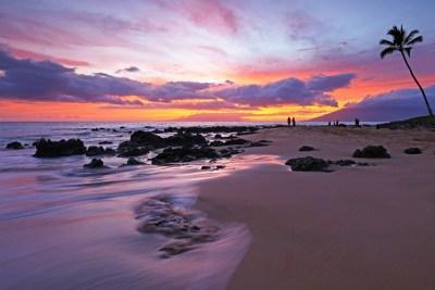 Zonsondergang,Hawaii