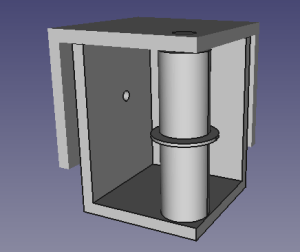 back top corners of print, with two bearings and a washer in place