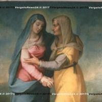 """I tesori d'arte di Vergato in mostra a Grizzana - """"Santa Maria visitante"""", olio su tela, cm. 136x185"""