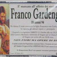 Franco Gardenghi ci lascia a 94 anni