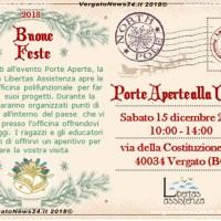 Porte aperte alla Vergata, sabato 15 dicembre 2018 10:00-14:00