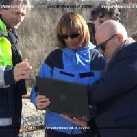 La Protezione Civile Regionale visita il cantiere sul fiume Setta a Rioveggio per fare il punto della situazione