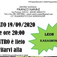 Centro sociale Franco Nanni - Polentata, sabato 19 settembre, in compagnia di Leon Karashow.