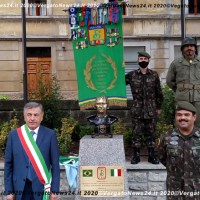 Porretta Terme - Inaugurazione del Monumento al Generale della FEB Mascarenhas