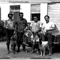 Correva l'anno... 1972 - Cacciatori a Cereglio con coppe e fagiani
