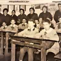 Vergato - Classe quinta elementare 1963. Maestro Croce,  genitori ed alunni