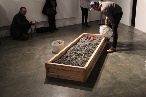 Verge Gallery: DOING TIME, curated by Carrie Miller. Lucas Davidson's Black Cell durational performance, 16th July, 2015. — with Lucas Davidson at Verge Gallery.