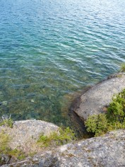 Lago esmeralda cerca Cochrane