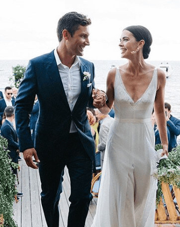 Ryan Biegel With His Wife On Wedding Day