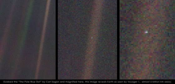 "4. ""The Pale Blue Dot"" – 1990 – NASA- Voyager 1 Mission"