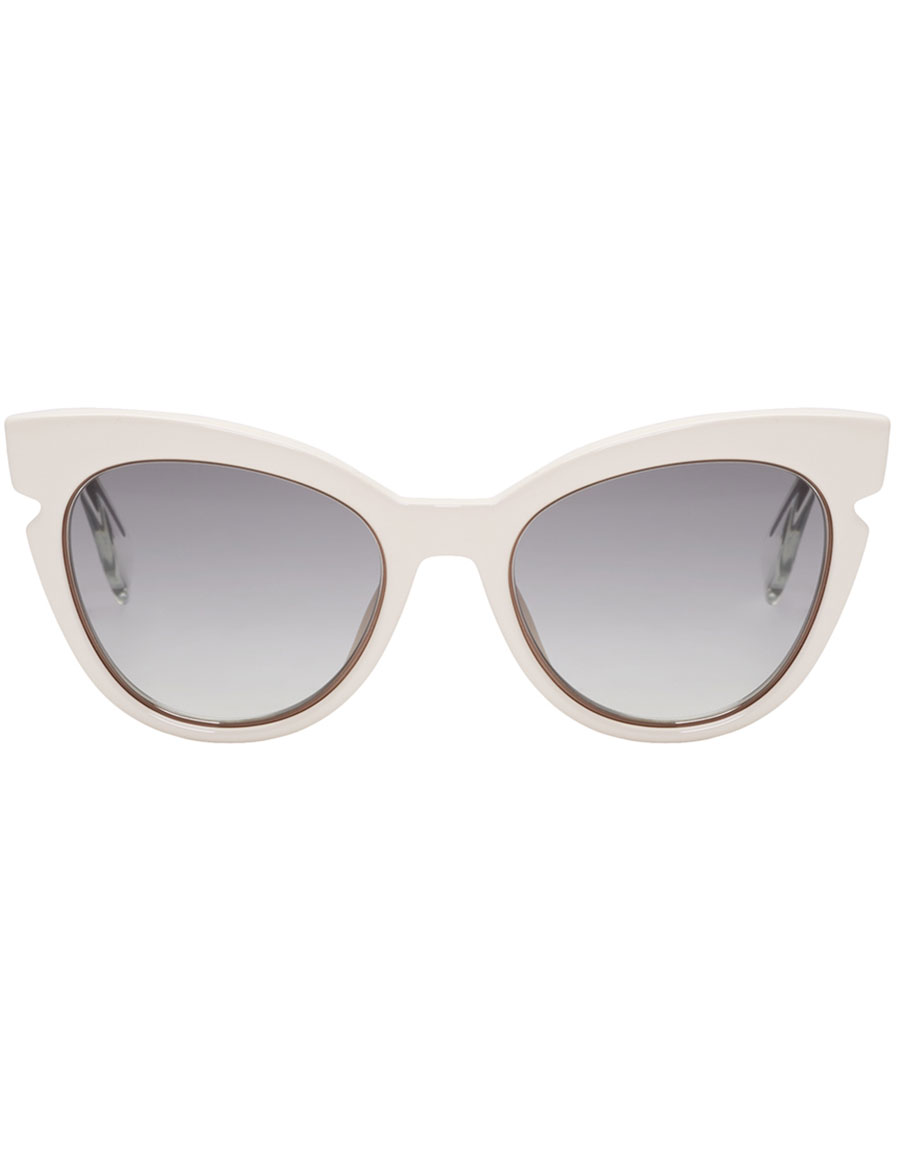 d14d93c38a447 FENDI Ivory Cat-Eye Sunglasses · VERGLE