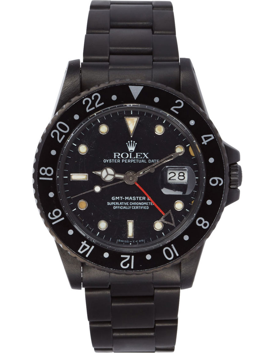 ROLEX Matte Black Limited Edition Rolex GMT Master II Watch